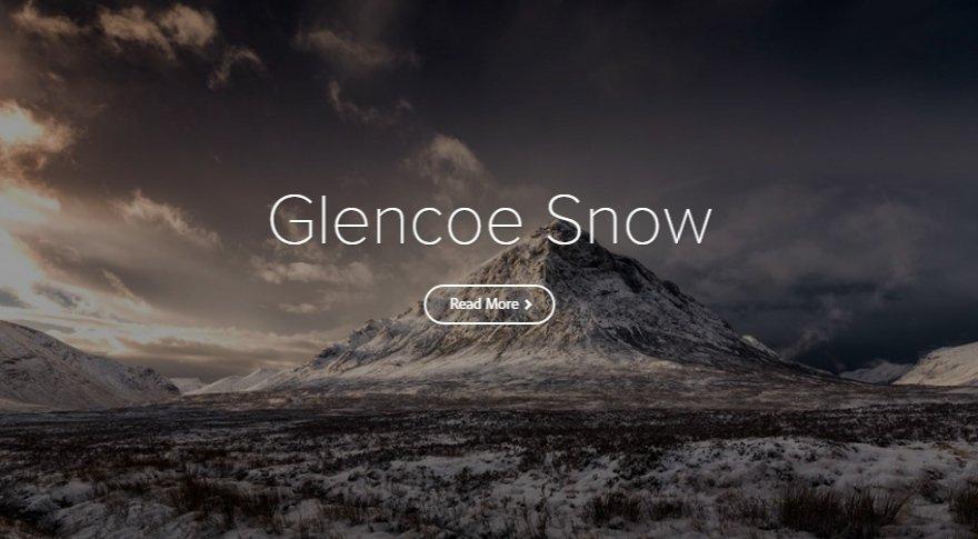 Spark Page | Glencoe Snow | A glideshow photo story